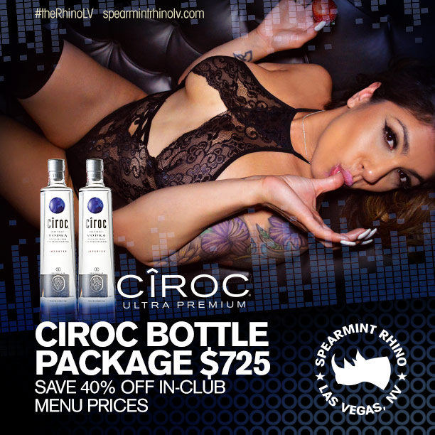 spearmint rhino las vegas Ciroc bottle package