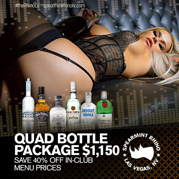 quad bottle package spearmint rhino las vegas