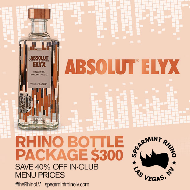 ABSOLUT ELYX SPEARMINT RHINO LAS VEGAS